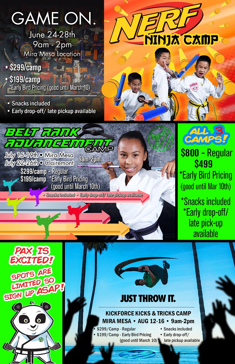 Kickforce Martial Arts | Summer Camp in in San Diego, California