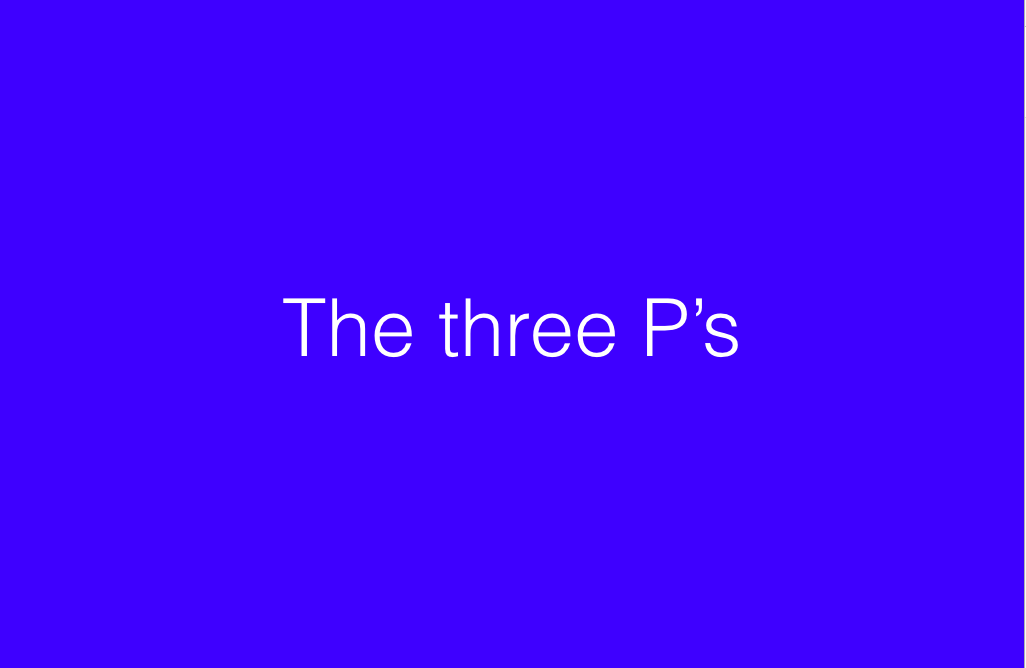 THE-THREE-P's